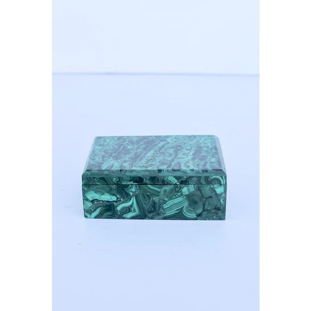 Mid-Century Modern Malachite Box For Sale - Image 3 of 6