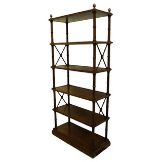 """Brandt Furniture Hagerstown, MD Asian Inspired Faux Bamboo 34"""" Etagere / Bookshelf 3785 Preview"""