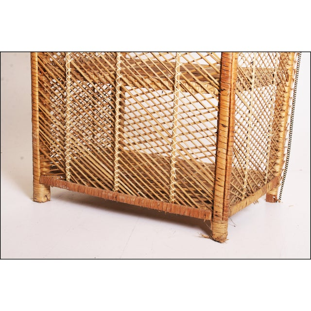 Vintage Boho Chic Wicker Bookcase with Dome Top For Sale - Image 9 of 11