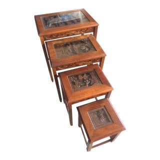 Chinese Nesting Tables - Set of 4 For Sale