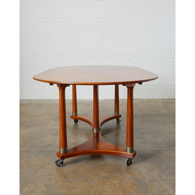 Swedish Biedermeier Style Library or Dining Table For Sale In San Francisco - Image 6 of 13