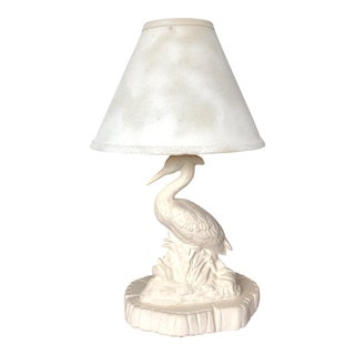 Egret Coastal Ceramic Table Lamp For Sale