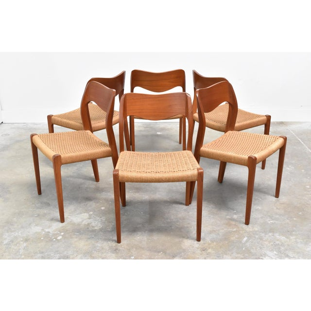 Danish Modern j.l. Møller Model 71 Teak Dining Chairs - Set of Six For Sale - Image 13 of 13