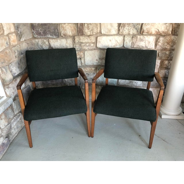 Mid Century Danish Modern Upholstered Arm Chairs - a Pair For Sale - Image 11 of 11