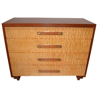1940s Mid-Century Modern Walnut and Burled Sycamore Gentleman's Chest For Sale