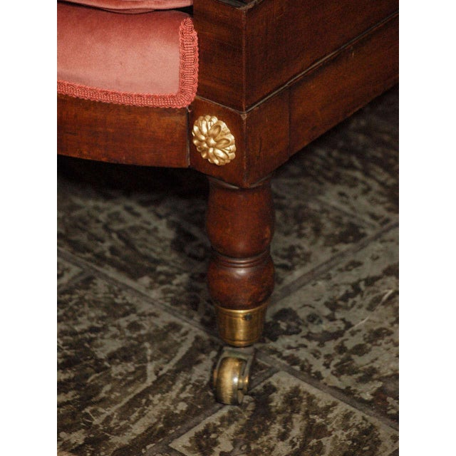 Antique French mahogany Empire style settee For Sale In New Orleans - Image 6 of 8