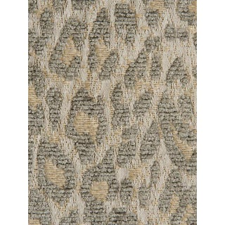 Scalamandre Leopard Castle Gray Fabric For Sale
