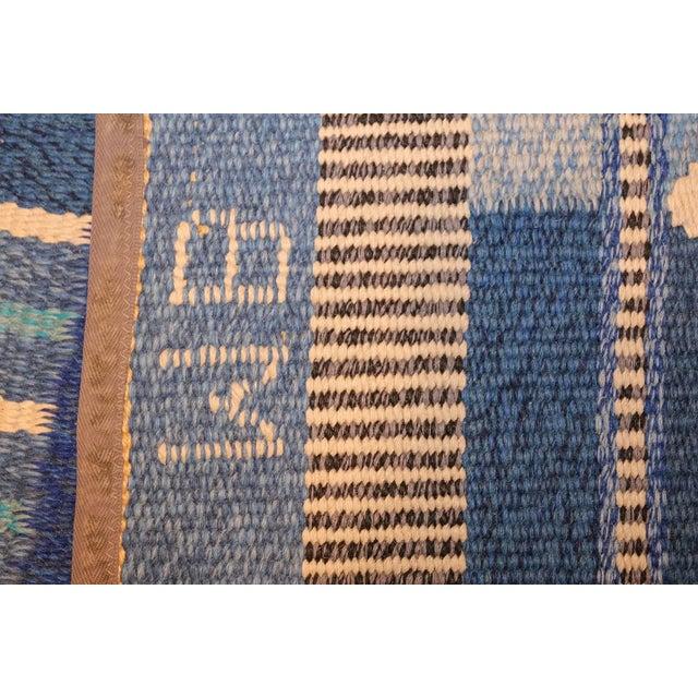 Vintage Swedish Scandinavian Kilim Rug - 5′6″ × 8′ For Sale - Image 4 of 9