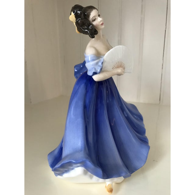 "English Traditional Royal Doulton ""Elaine"" Figurine For Sale - Image 3 of 8"