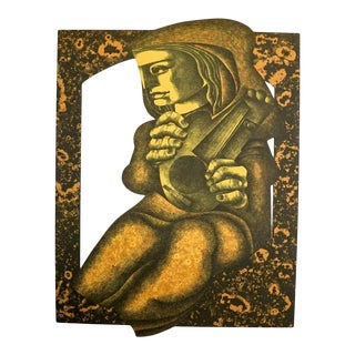 Jorge Dumas Interludio Musician Lithograph For Sale