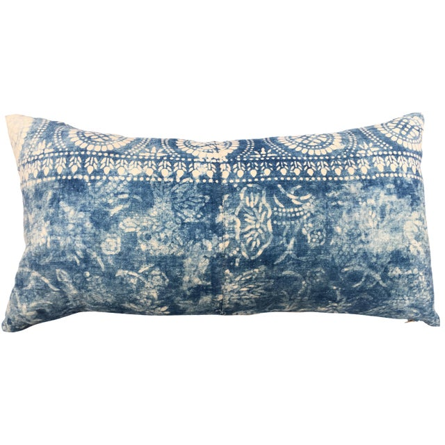Antique Bleached Batik Pillow - Image 1 of 7
