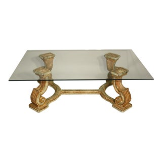 1950's Italian Polychrome Coffee Table For Sale