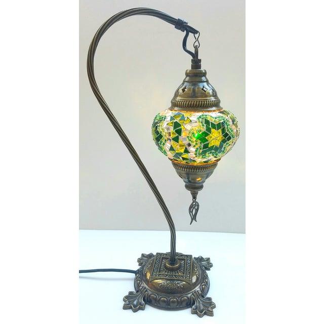 Star of David Mosaic Pendant Table Lamp - Image 2 of 5