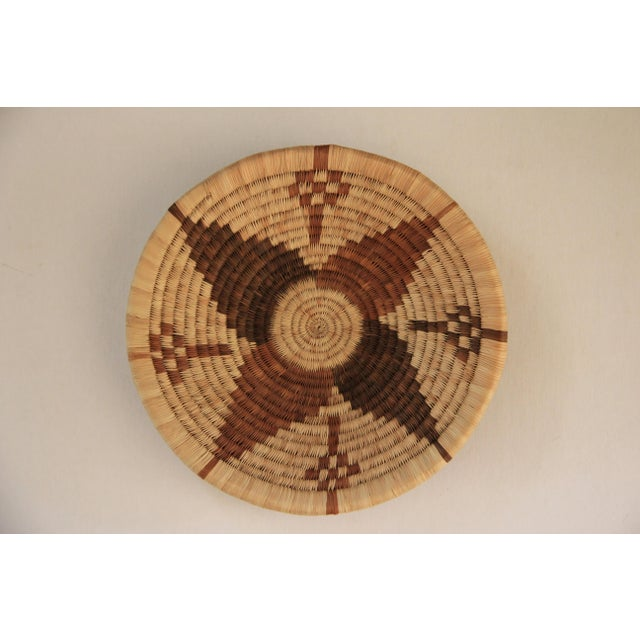 Handwoven African Shallow Basket - Image 2 of 4
