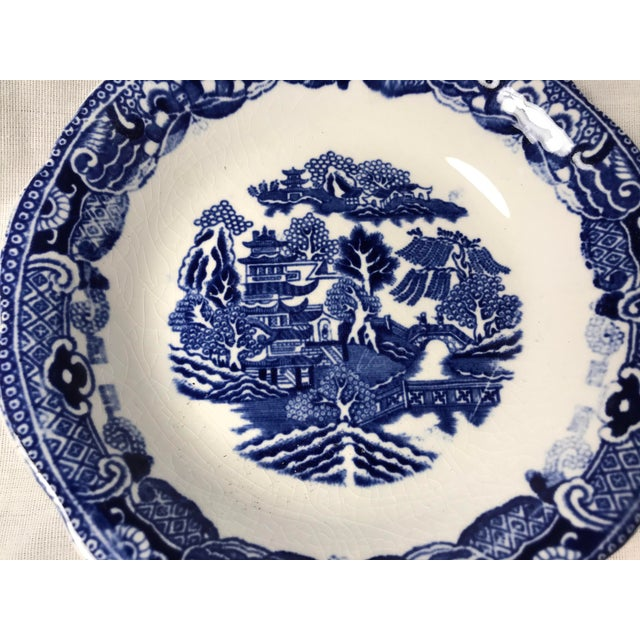 "This beautiful small plate or saucer is done in a classic Blue Willow pattern. The back is marked ""Greene Co Ltd Gresley..."