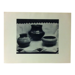 """Circa 1950 """"Pueblo of San Juan Indian Red Pottery"""" Indian Arts Fund Collection Print For Sale"""