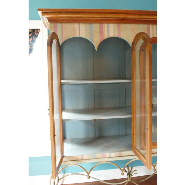 Painted Mahogany Curio Cabinet For Sale - Image 12 of 13