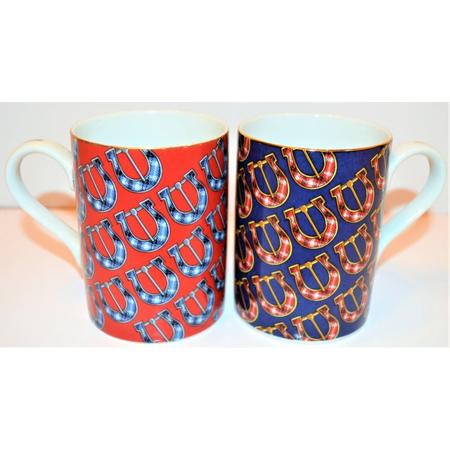 Vintage Gucci Porcelain Mugs - a Pair For Sale In Houston - Image 6 of 9