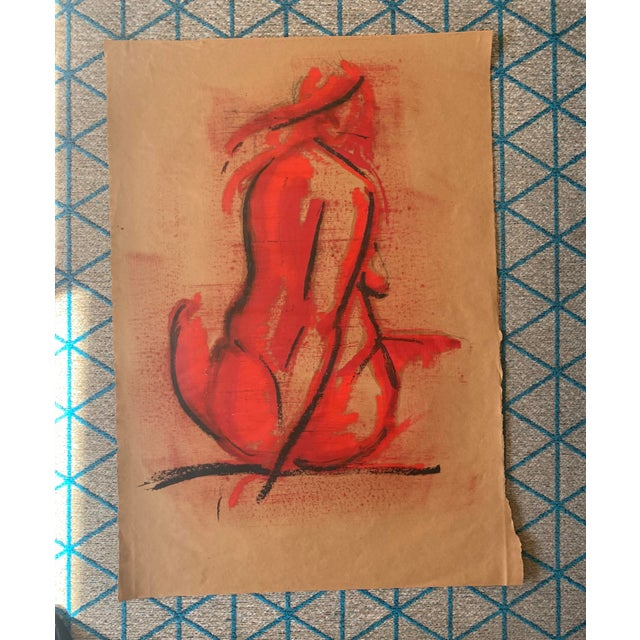 Paper Contemporary Greg Lauren Painting For Sale - Image 7 of 7