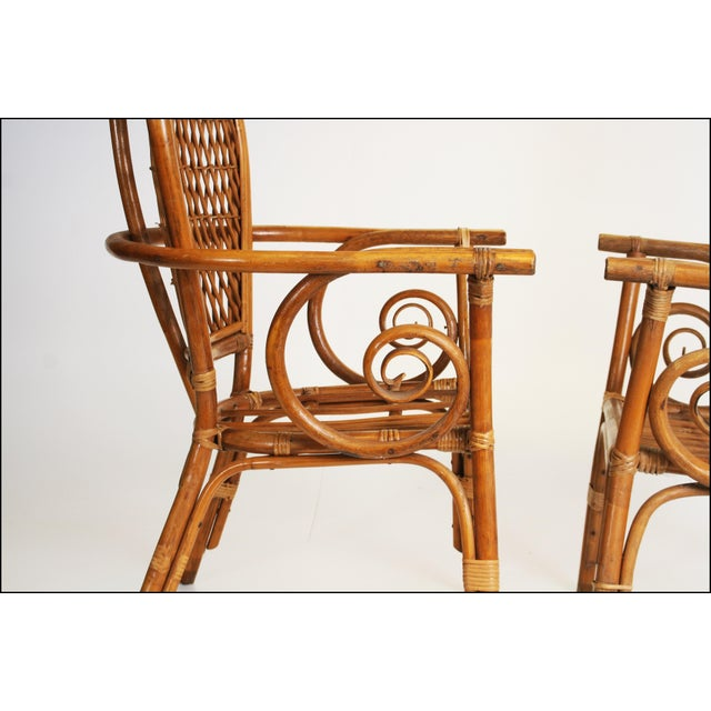 Vintage Bamboo Bentwood Chairs - A Pair For Sale - Image 5 of 11