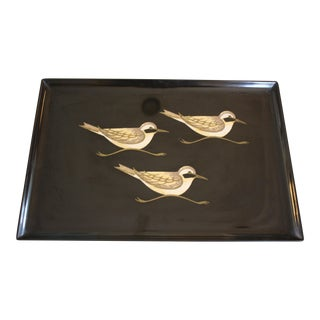 Vintage Couroc of Monterey Sandpiper Tray