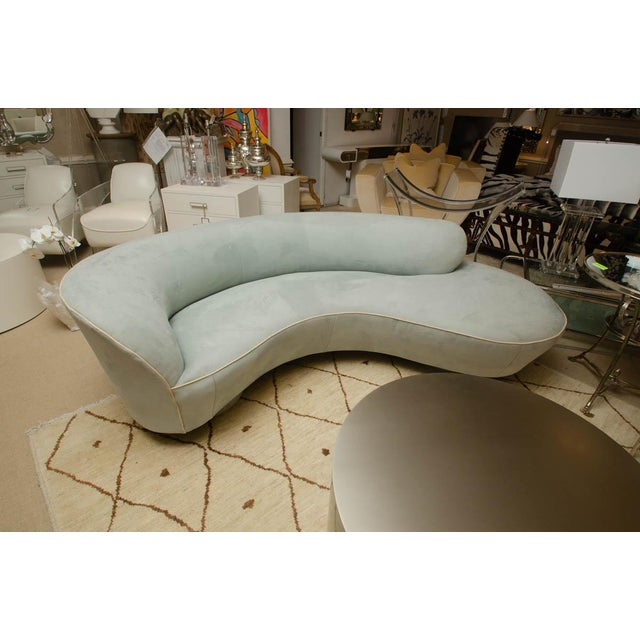 Leather 1970s Cloud Sofa by Vladimir Kagan For Sale - Image 7 of 8