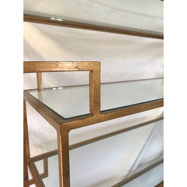 Asian Worlds Away Doris Gold Leaf Etagere For Sale - Image 3 of 5
