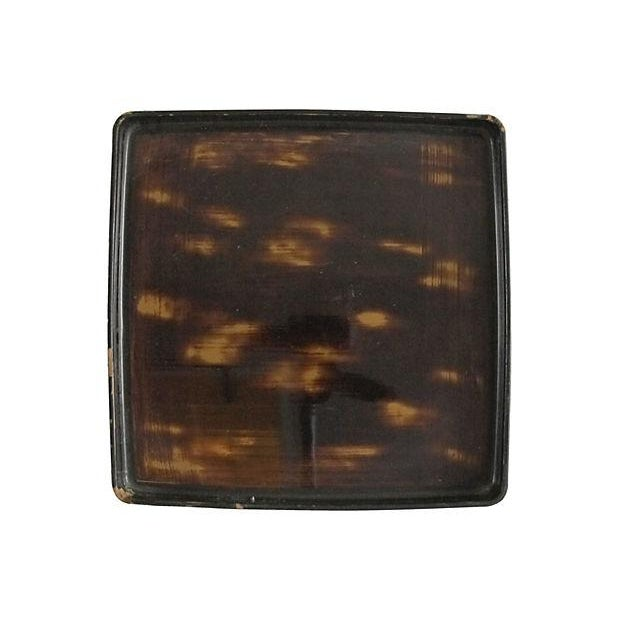 Japanese Faux-Horn Wooden Tray - Image 1 of 4