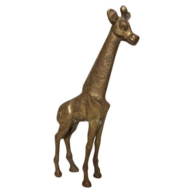 Vintage Brass Giraffe - Image 1 of 4