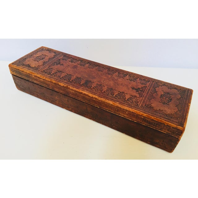 """French Antique Glove Box by """"A La Marquise De Sevigne Paris"""" For Sale - Image 9 of 12"""