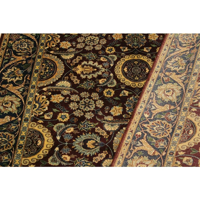Textile Agra Tabriz 16x18 Veg. Pak-Persian Lisabeth Purple/Blue Wool Rug - 4'7 X 7'3 For Sale - Image 7 of 8