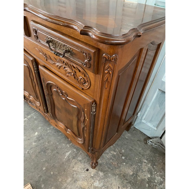 Mid 19th Century 19th Century Louis XV Style Enfilade Buffet For Sale - Image 5 of 12