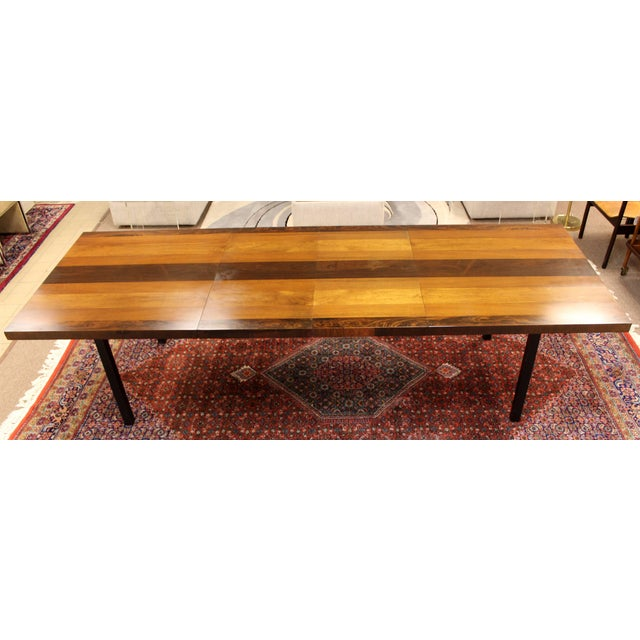1960s 1960s Mid-Century Modern Milo Baughman for Directional Walnut Rosewood Dining Table For Sale - Image 5 of 10