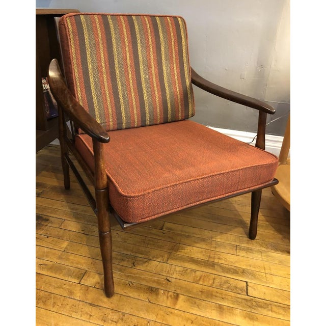 Brown Mid Century Italian Lounge Chair 1960's For Sale - Image 8 of 9