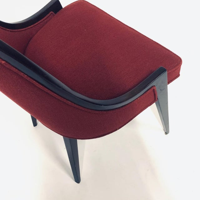 Black Harvey Probber Model 1053 Sculptural Gondola Slipper or Side Chairs - a Pair For Sale - Image 8 of 13