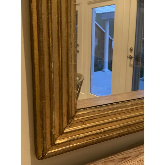 Beautiful Early American water gilt reeded mirror