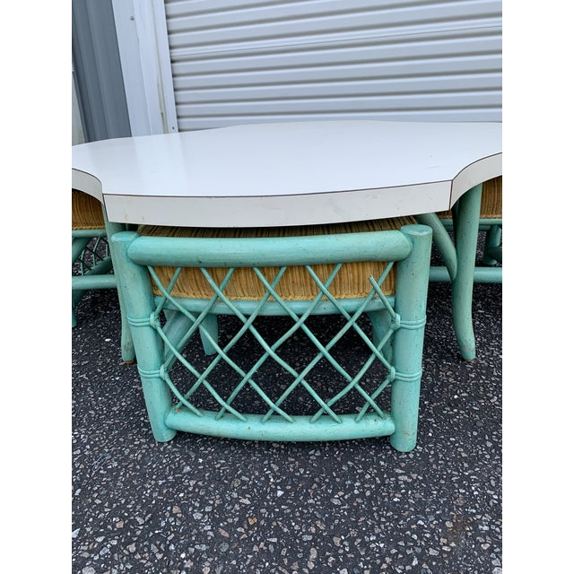 This fun table and chair set came out of a club in Miami Florida. And shockingly this color is the original finish. This...