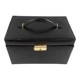 Black Leather Train Case