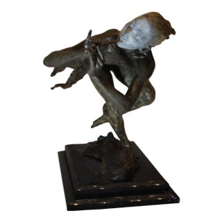 Richard MacDonald Signed 1/4 Life the Piper Music Ballet Bronze Sculpture For Sale