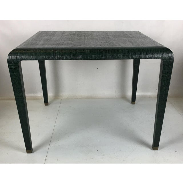 Exceptional Raffia Clad Games Table by Harrison Van Horn For Sale - Image 12 of 12
