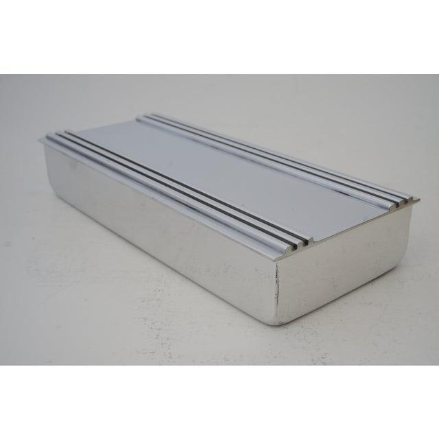 1930s Vintage American Art Deco 1930s Kensington Box Aluminum For Sale - Image 5 of 11