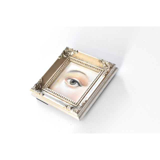 Victorian Contemporary Lover's Eye Oil Painting by Susannah Carson For Sale - Image 3 of 4