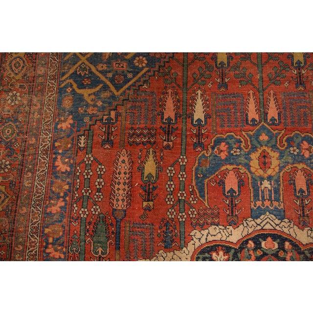 "Antique Bijar Carpet - 7'6"" X 11'10"" - Image 4 of 7"