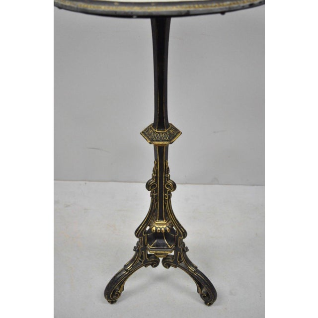 Metal 19th Century Antique Cast Iron French Victorian Pedestal Fern Stand Table For Sale - Image 7 of 10