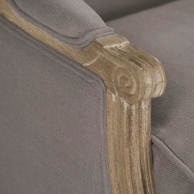 Audley Club Chair in Gray For Sale - Image 4 of 5