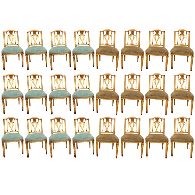 Painted Dining Chairs - Set of 24 For Sale