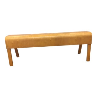 Bent Maple Modern Bench For Sale