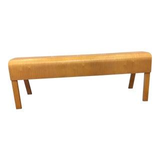 Bent Maple Modern Bench