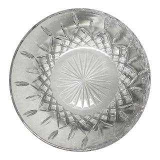 Large Late 20th Century Lead Crystal Serving Bowl For Sale