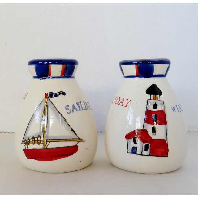 Late 20th Century Nautical Salt & Pepper Shakers, a Pair For Sale - Image 5 of 5